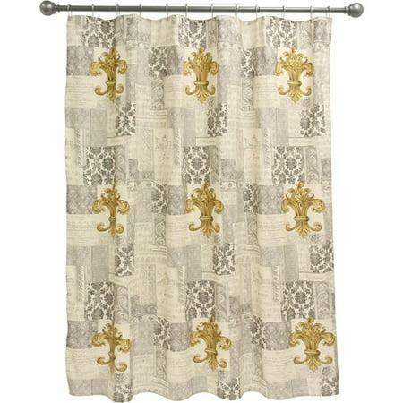 Bacova Guild Fleur De Lis Shower Curtai