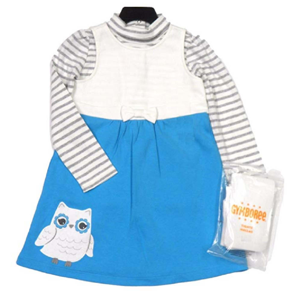 Gymboree 3 Piece Dress Top /& Tights Set for Girls