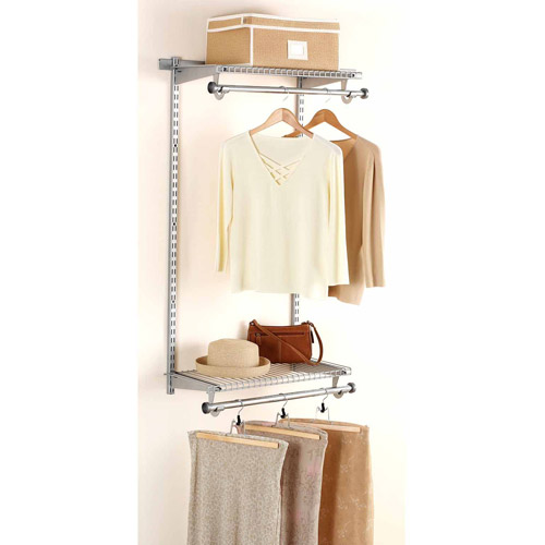 Rubbermaid Home Prod Dorfile FG3H9200TITNM 4' Configurations Hanging Rod Kit, Titanium