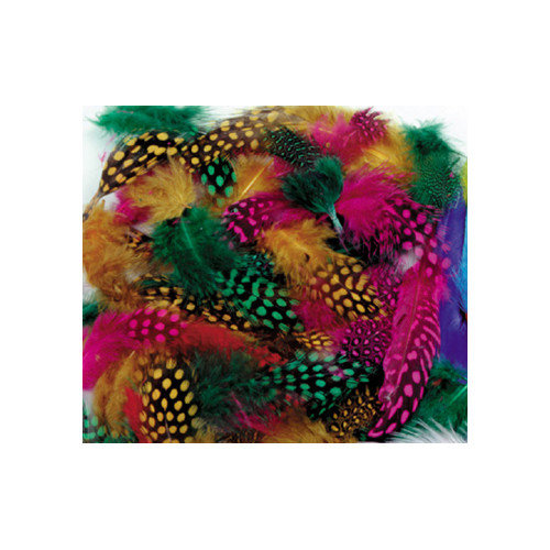 Chenille Kraft Company Spotted Feathers (Set of 3)