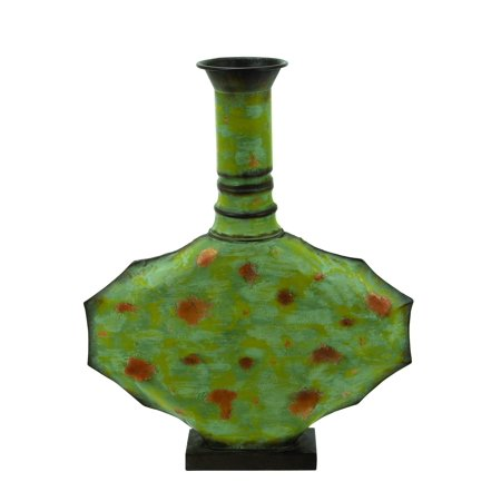 Contemporary Metal Vase Green With Timeless Design Brand Woodland