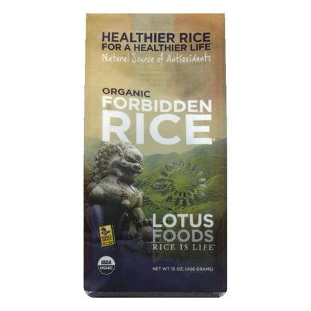 Lotus Foods Organic Forbidden Black Rice, 15 OZ (Pack of (Black Rice)