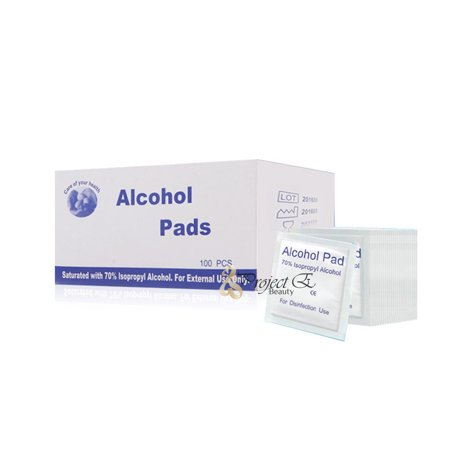 100 PCS Disposable Alcohol Pads Sterile Sanitizing Disinfection Fist Aid Individual Package Salon Home Use