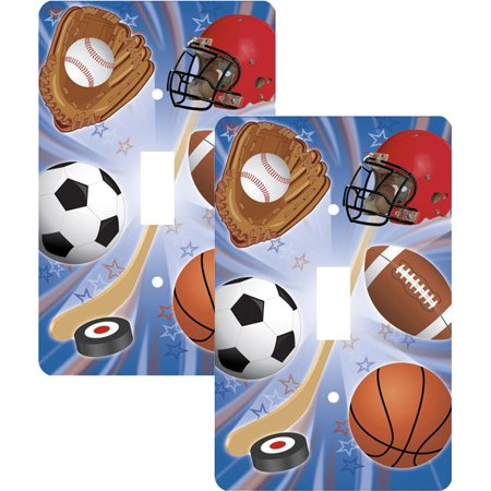 Sports Single Toggle Light Switch Cover, 2 -