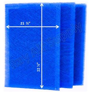 RayAir Supply 24x24 Pristine Air Cleaner Replacement Filter Pads 24x24