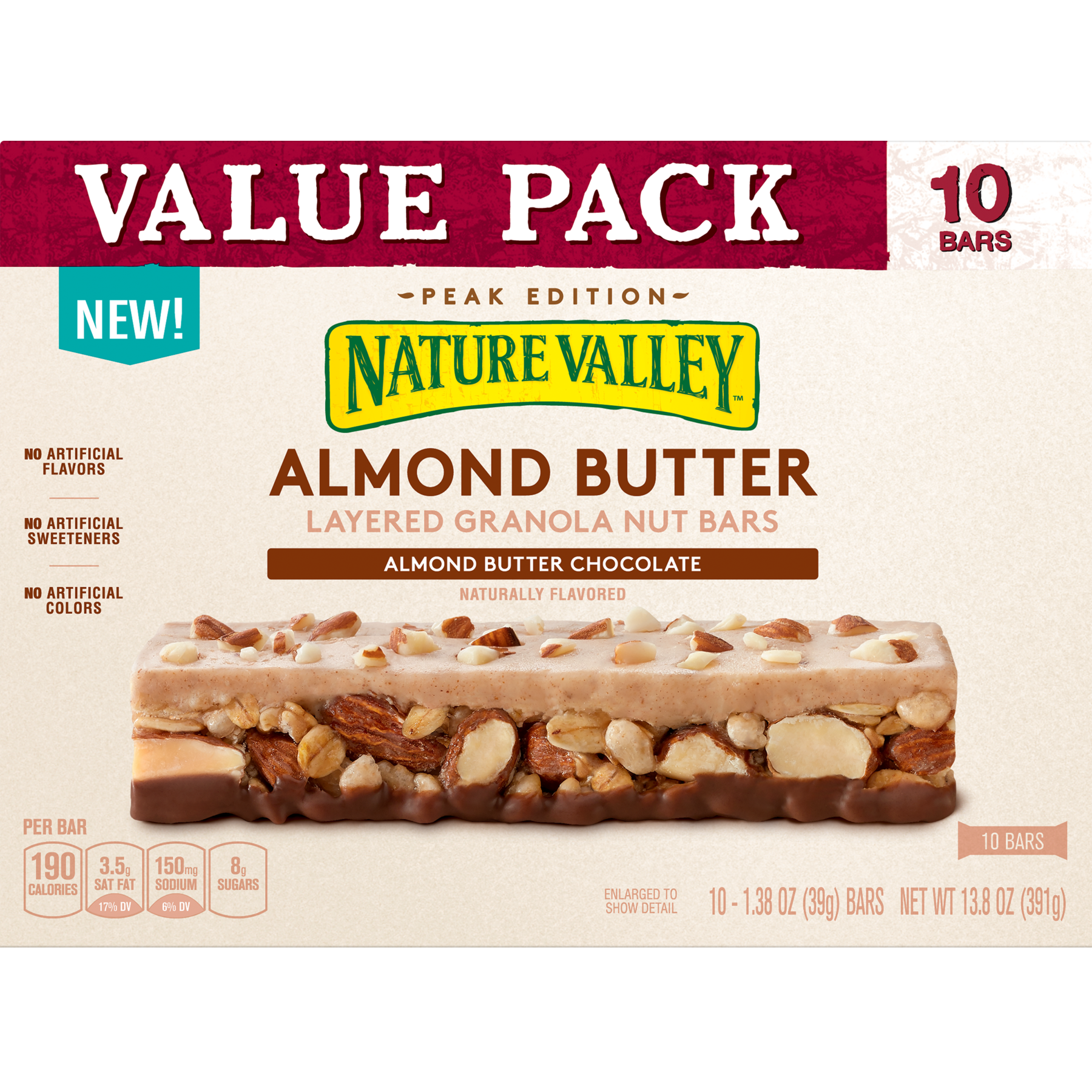 Nature Valley Granola Layered Butter Almond Nut Bars 13 8 Oz