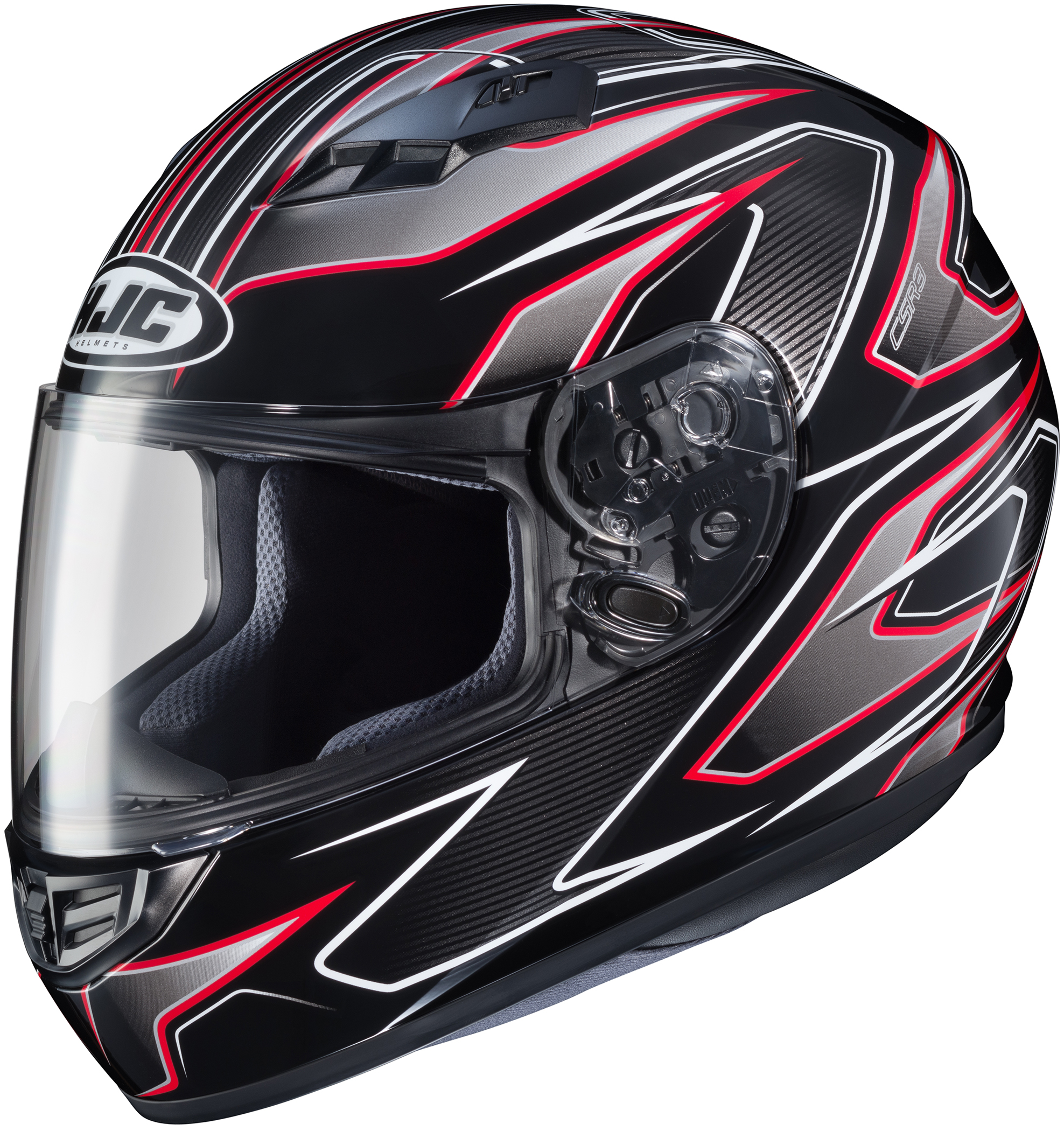 HJC CS-R3 Spike Helmet Red (MC-1) (Red, Medium)