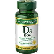 Nature's Bounty Vitamin D3 1000 IU Immune Health, 120 Softgels