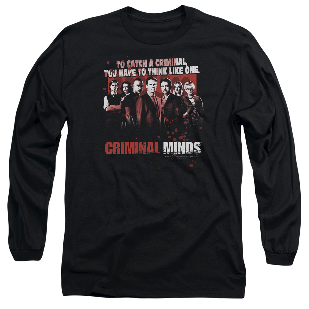 Criminal Minds Think Like One Mens Long Sleeve Shirt
