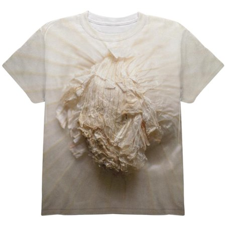 Halloween White Onion Costume All Over Youth T Shirt - Onion Halloween Costume