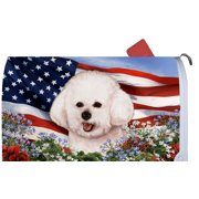 Bichon Frise - Best of Breed Patriotic I Dog Breed Mail Box Cover