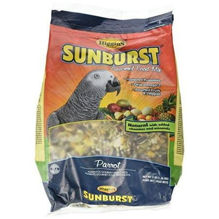 Higgins Sunburst Parrot Bird Food, 3 Lb