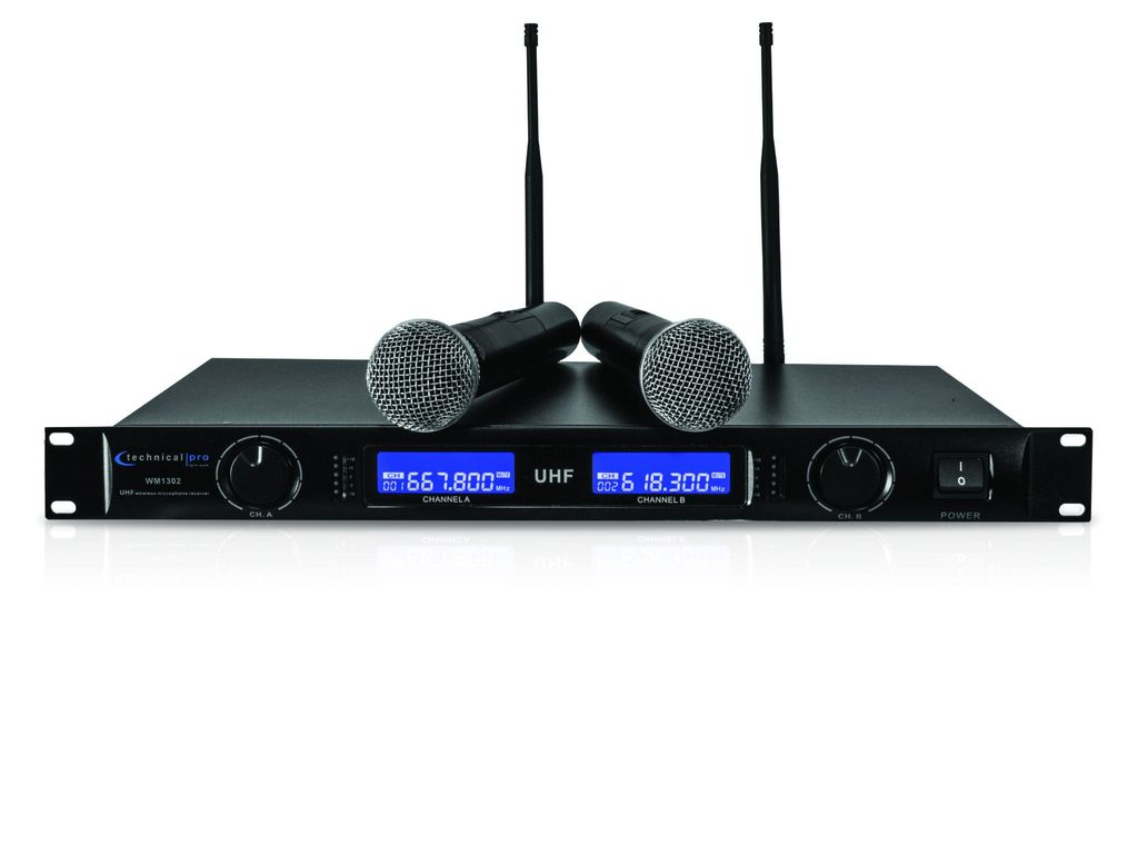 Technical Pro Dual UHF Wireless Microphone System by Technical Pro