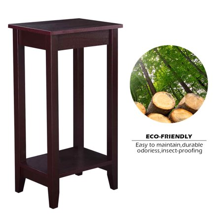 Wood Tall End Coffee Table Nightstand Sofa Side Table Console