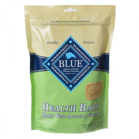 Blue Buffalo Health Bars Dog Biscuits - Baked with Apples & Yogurt 16 oz - Pack of 6