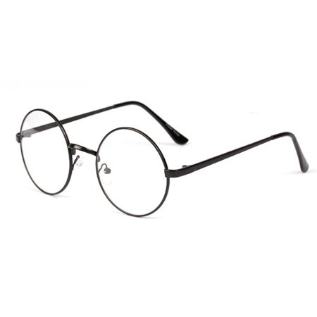 ca014a760cc Women Men Vintage Round Circle Eyeglasses Metal Frame Glasses Optical -  Walmart.com