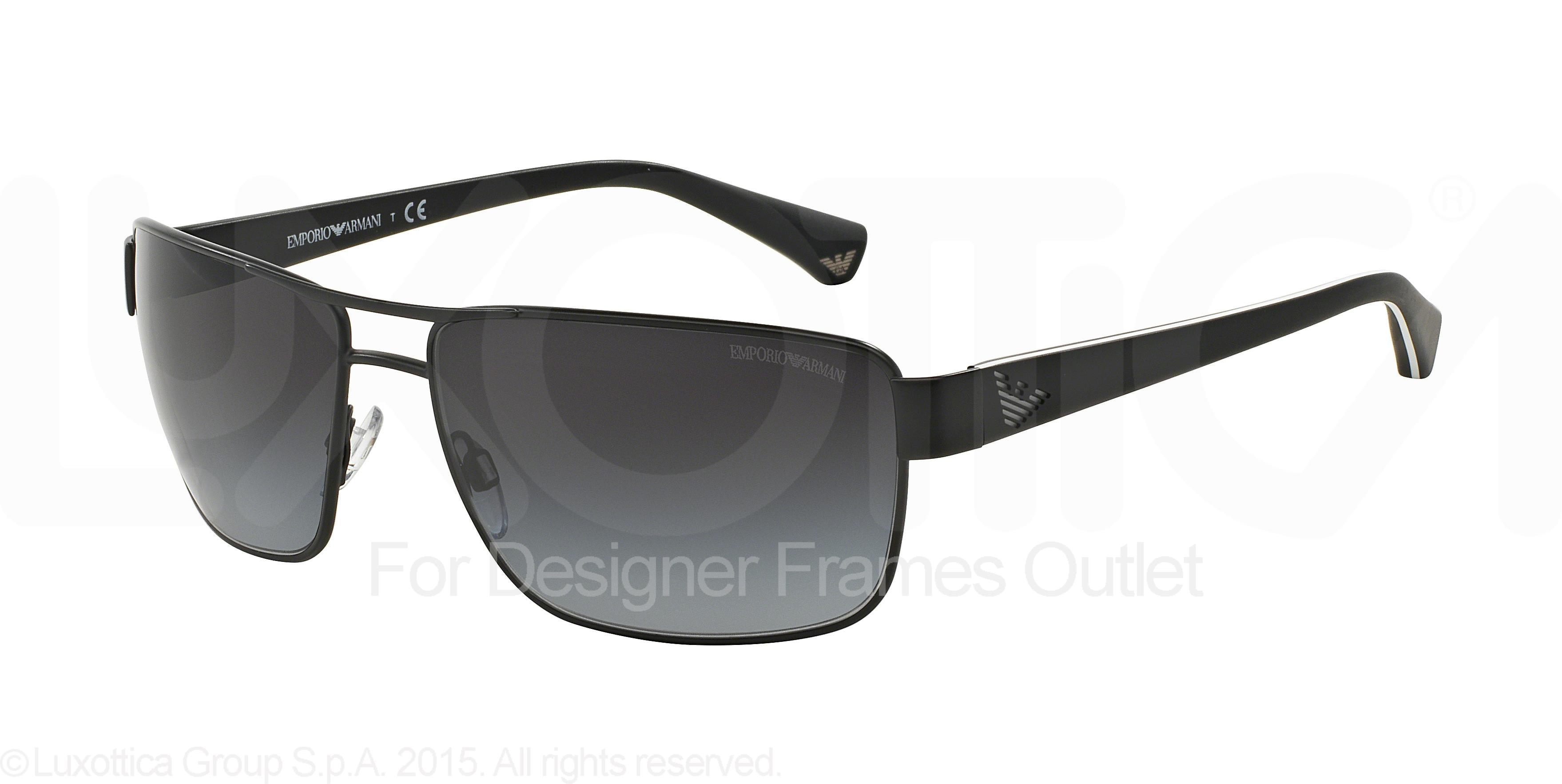 Emporio Armani EA2031 31098G 62-15 in black dwl6GY