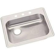 Elkay GE12521L4 Dayton Stainless Steel Single Bowl Top Mount Sink with 4 Faucet Holes, Satin