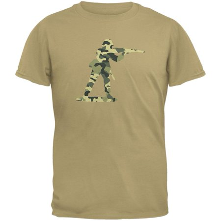 Camo Toy Soldier Tan Adult T-Shirt - Toy Soldier Clothing