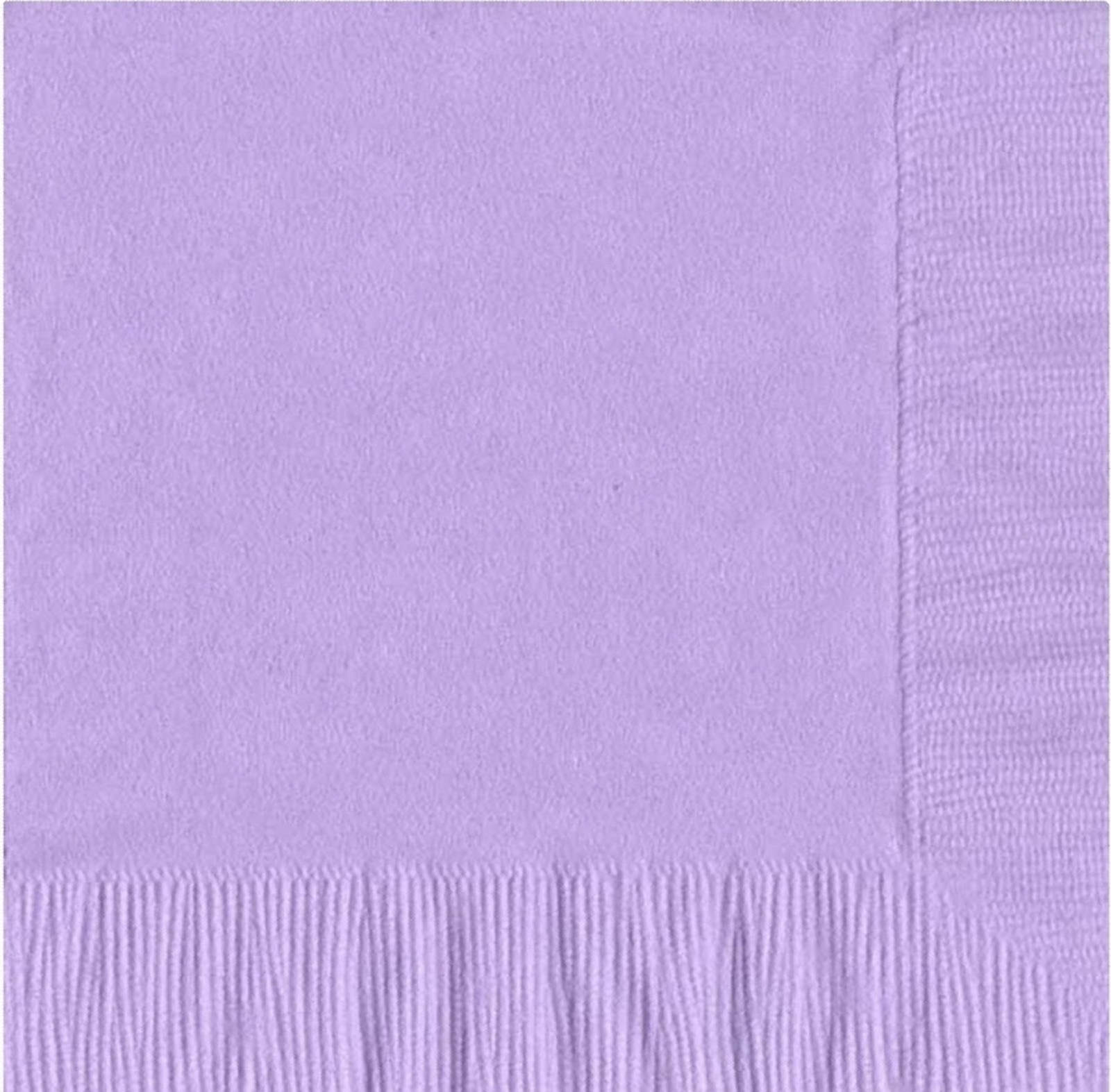 200 -  (4 Pks of 50) 2 Ply Plain Solid Colors Luncheon Dinner Napkins Paper - Lavender