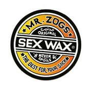 "Mr. Zoggs SEX WAX STICKER 3"" CIRCULAR FADE ORANGE"