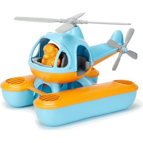 Green Toys Seacopter Bath Toy, Orange Top by Green Toys