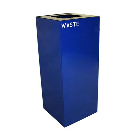 Witt Industries 36GC03-BL 36 Gallon Indoor Recycling Container With Square Opening, Blue Witt Industries Square