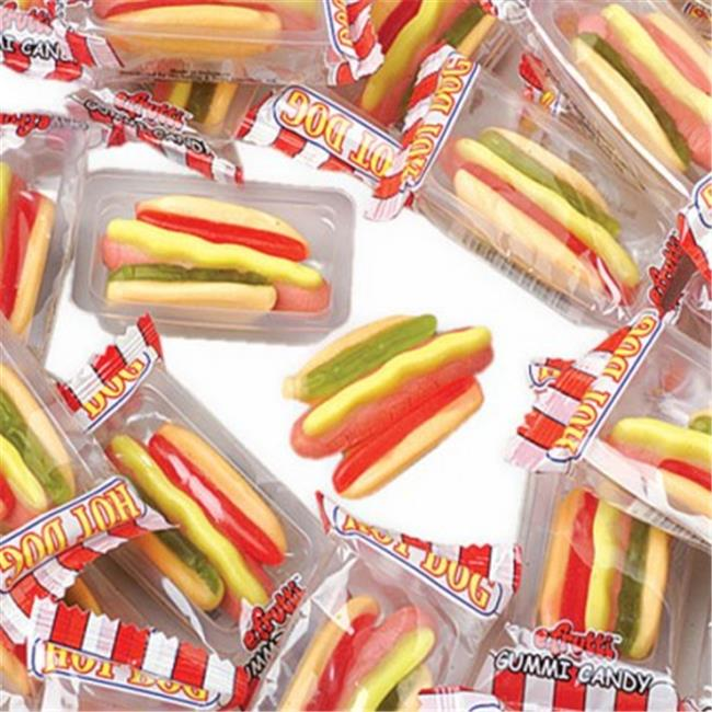 USToy CA211X4 60 Piece Gummy Hot Dogs - 4 per Boxes