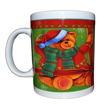 Christmas Season Decorative Novelty Mugs (Teddy Bear Gift) (FOR DECORATION PURPOSES ONLY) - Novelty Christmas Gifts