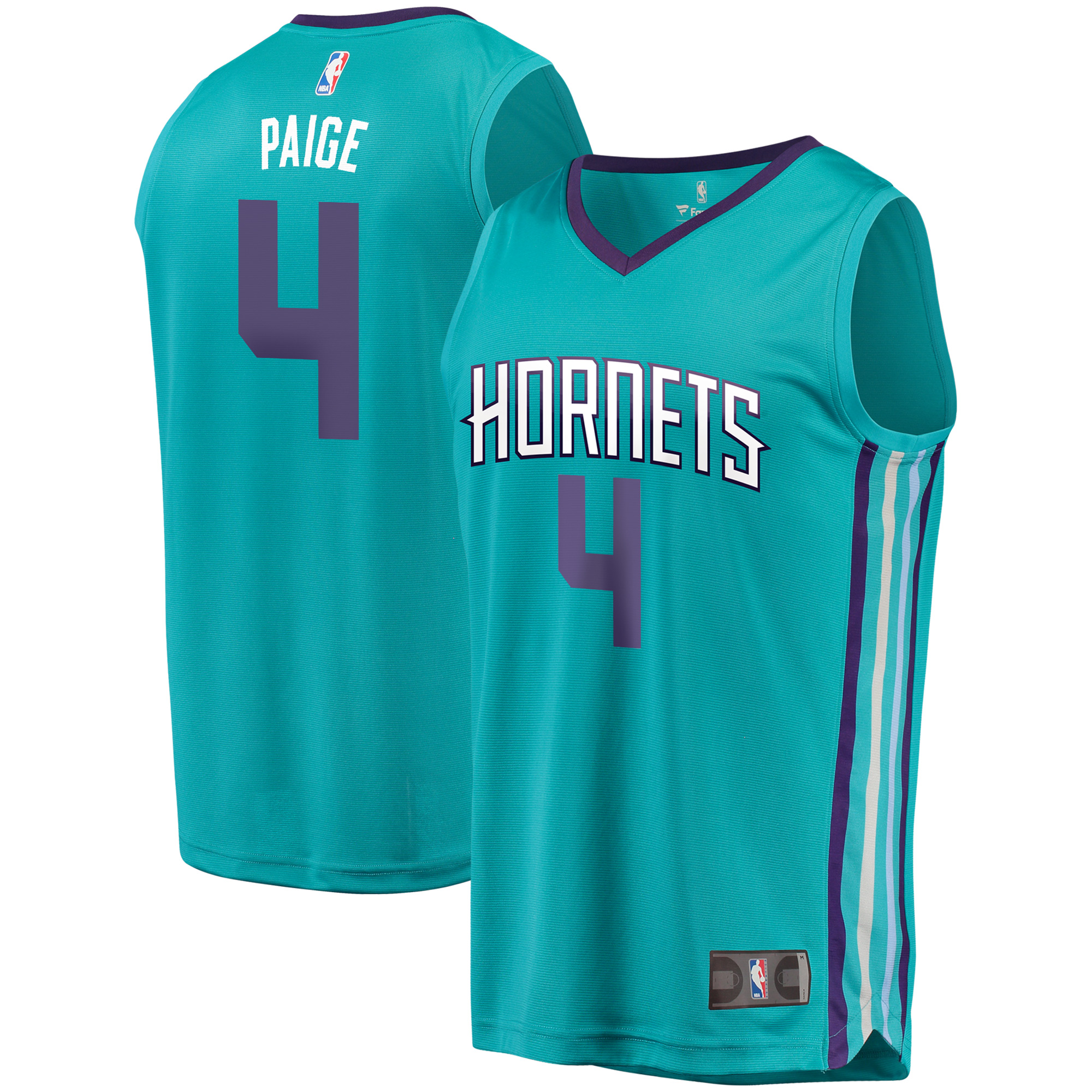 Marcus Paige Charlotte Hornets Fanatics Branded Fast Break Replica Player Jersey - Icon Edition - Teal