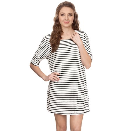 Tunic Dress Short Sleeve T Shirt Dress  Shift Dress Swing Dress Casual Dress Usa
