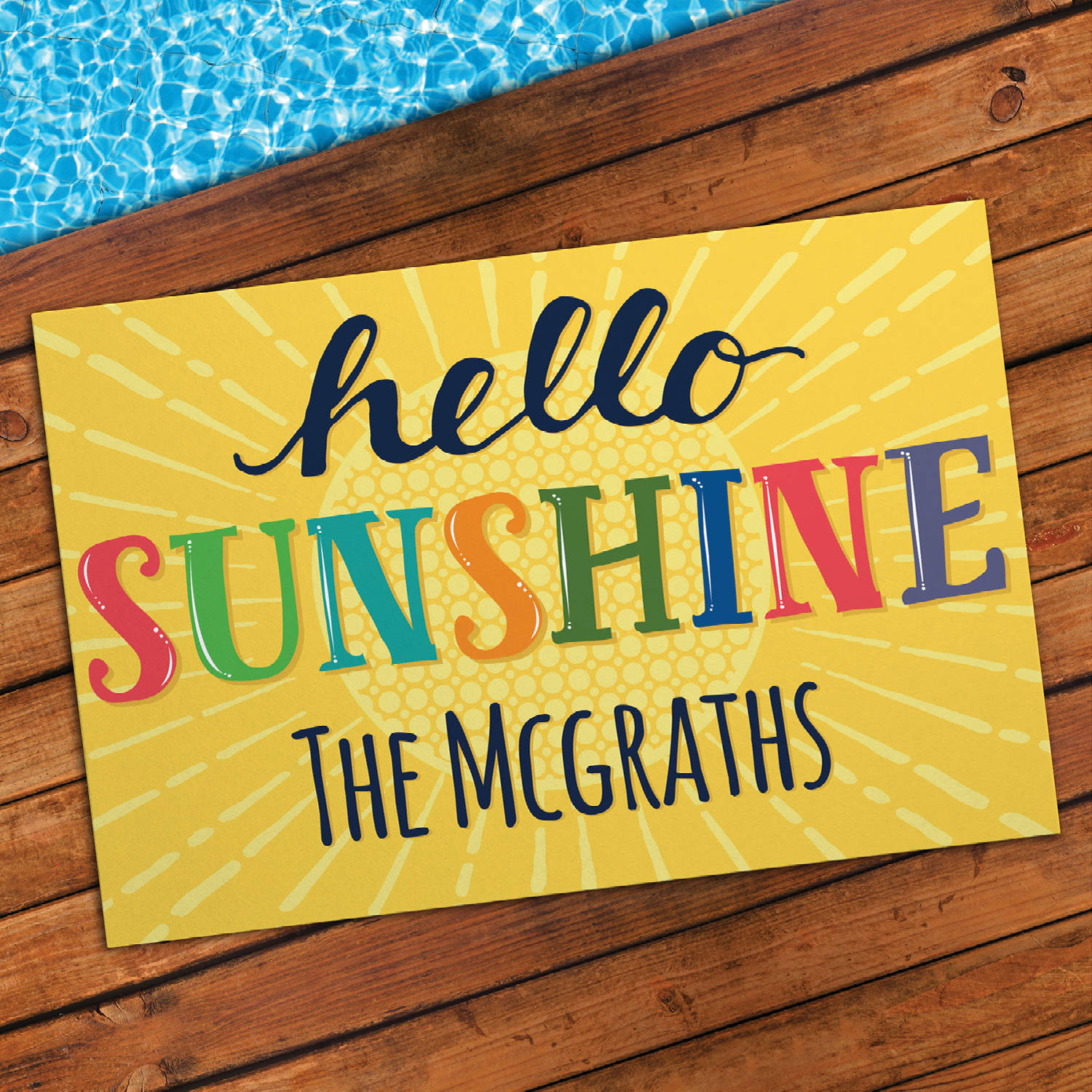 Hello Sunshine Personalized Indoor/Outdoor Welcome Doormat