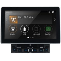 Dual DMCPA11BT 10.1-Inch Double-DIN In-Dash Mechless Receiver With Bluetooth, Apple Carplay, And Android Auto