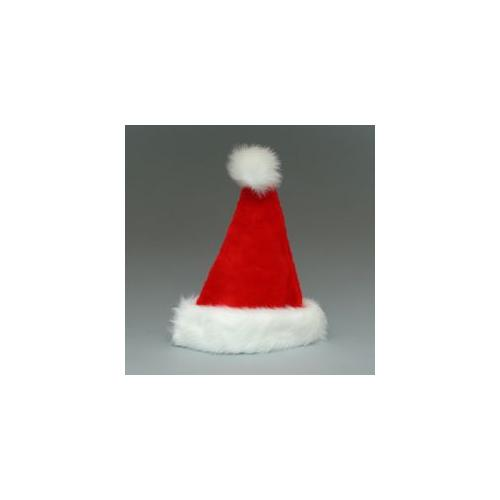 """17"""" Red Christmas Santa Claus Hat with Faux Rabbit Fur Cuff - Adult Size"""