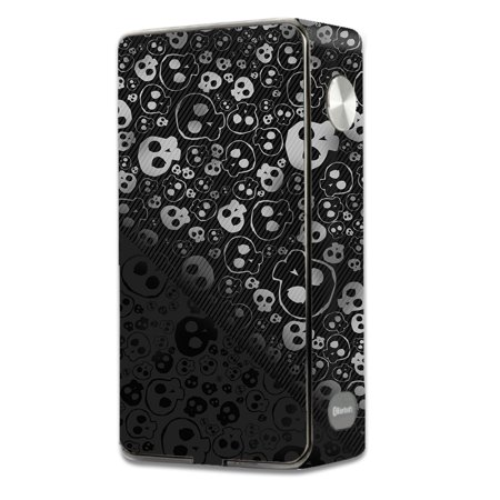 - Skins Decals For Laisimo L3 Touch Screen 200W Vape Mod / Skulls Pattern Denim Look