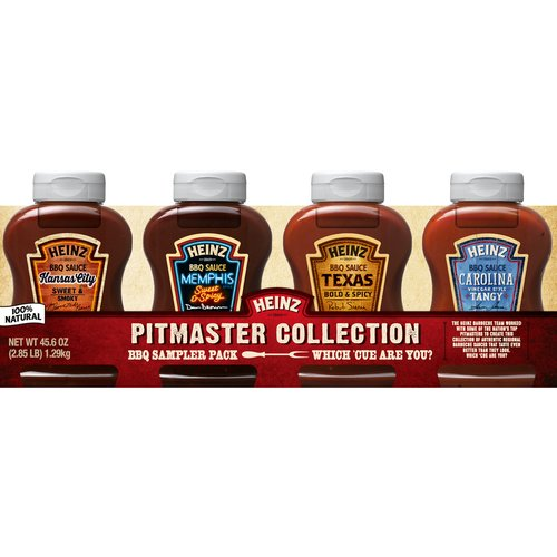 Heinz Pitmaster Collection BBQ Sauce Sampler Pack, 4 count, 45.8 oz