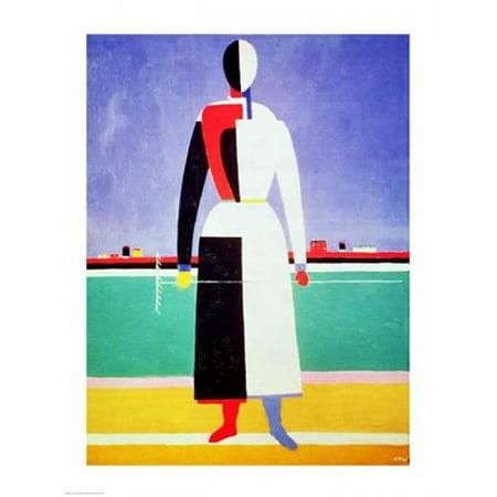 Posterazzi BALXIR47709 Woman with A Rake Poster Print by Kazimir Malevich - 18 x 24 in. - image 1 de 1