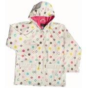 Baby Girls White Polka Dots Rain Coat 1T
