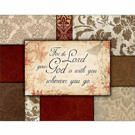 - For The Lord Traditional Abstract Pattern Panel Religious Painting Red & Brown Canvas Art by Pied Piper Creative