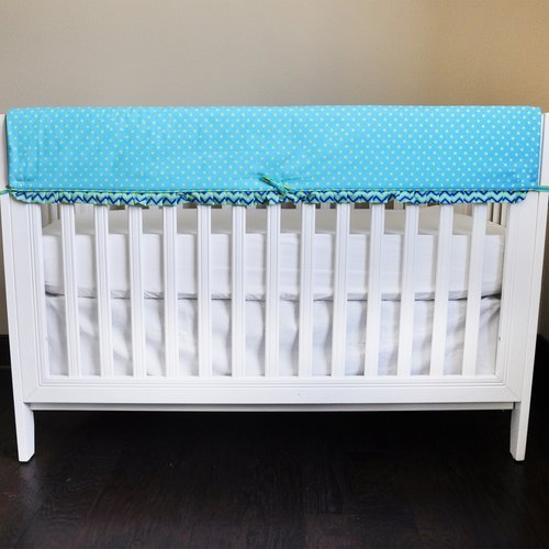 ZigZag Elephant Crib Rail Guard Cover