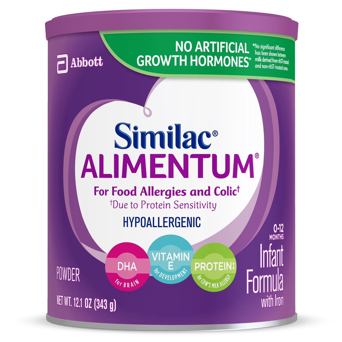 Similac Alimentum Hypoallergenic (6 Pack) for Food Allergies and Colic, Baby Formula, Powder, 12.1 ounces by Similac