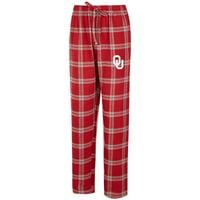 Oklahoma Sooners Concepts Sport Big & Tall Homestretch Flannel Pants - Crimson/Gray