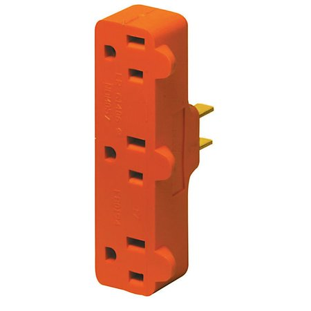 Triple Tag - Leviton  R52-00699-000 Triple Tap Plug-In Outlet Adapter