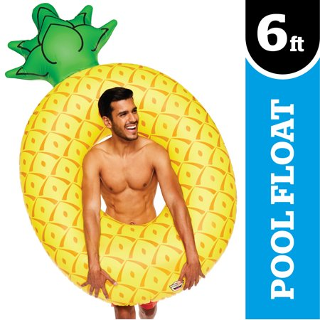 BIGMOUTH INC.Vinyl Inflatable Giant Pineapple Pool Float, Patch Kit Included