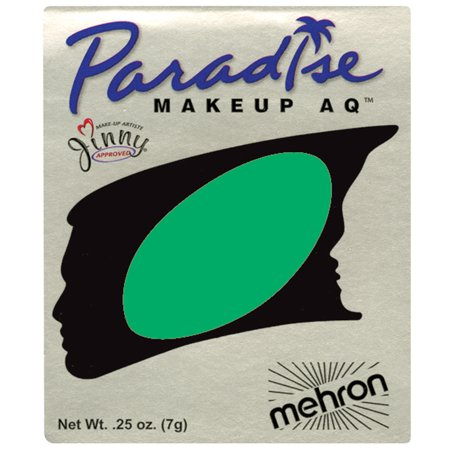 Half Face Halloween Makeup Green (Paradise AQ Professional Single Refill .25oz (7g) Cake Makeup, Amazon)