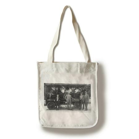 - Salt Lake City, Utah - View of Trolley for Salt Lake Sightseeing (100% Cotton Tote Bag - Reusable)