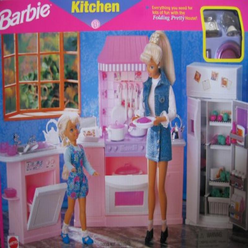 Mattel Barbie Kitchen-Everything you need for lots of fun with the Folding Pretty House