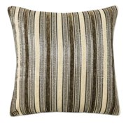 Brown Multi-Stripe Jacquard 18 Inch Decorative Throw Pillow 2 pack, brown