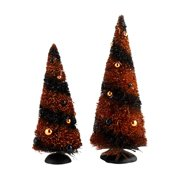 Department 56 Snow Village Halloween Halloween Sisals, Set of 2 Trees #4033852