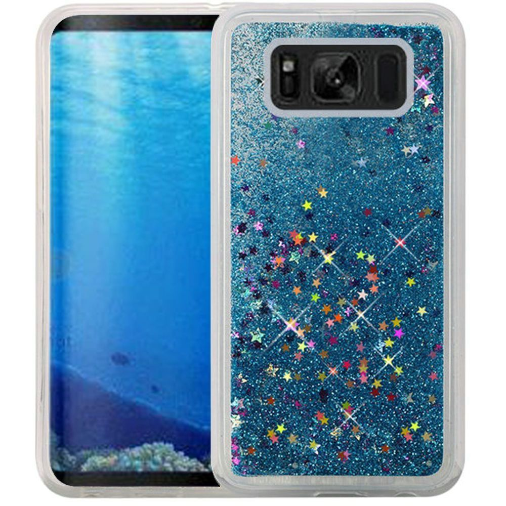 Samsung Galaxy S8 Case - Wydan Liquid Sand Glitter Bling Shockproof Fun Phone Cover Hot Pink
